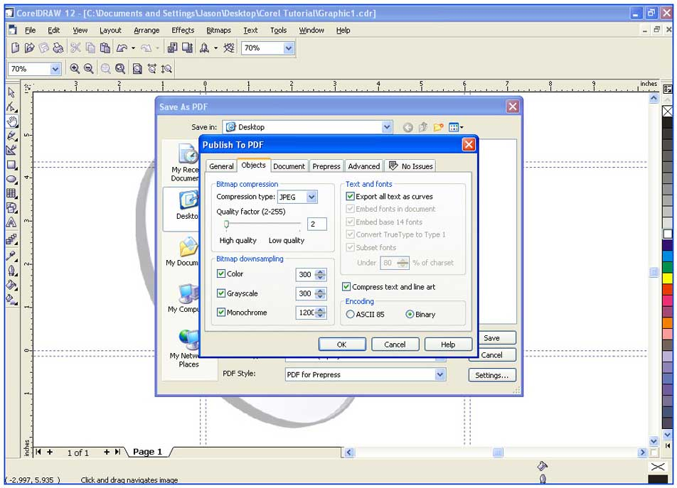 Colordigit Com 16 How To Save A Corel Draw Document To A Print