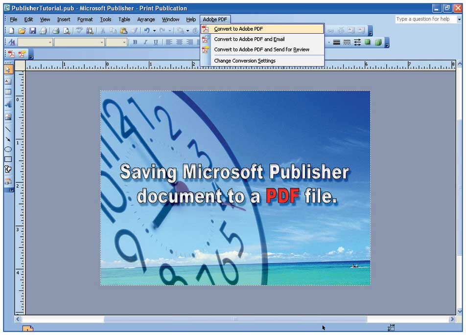 Colordigit.com - 17. How to save a Microsoft Publisher Document to ...